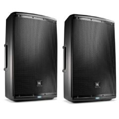 2 x JBL EON615 2000W Powered Active PA Speaker or Monitor + Mixer + 2Yr Warranty